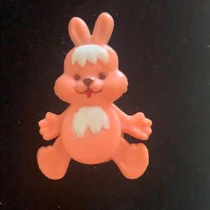 Vintage Bunny Pin W/ Moveable Arms & Legs